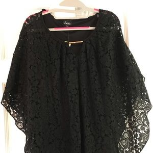 NWT Emma Black Lace Blouse